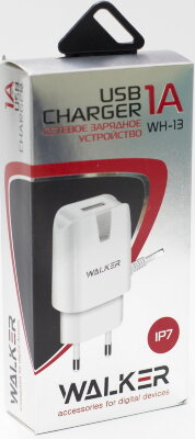 СЗУ Walker WH-13 LightNing 8 pin (1А), белое