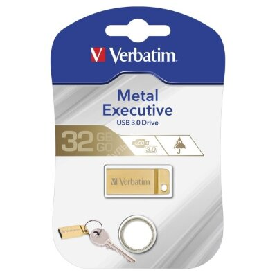 Verbatim 32GB USB 3.0 Executive Metal Gold
