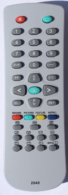 Пульт Vestel SF-148 [TV] c T/TX 2040
